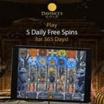 DaVinci's Gold Casino: 5 Free Spins for 365 Days